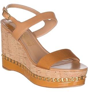 63dfe057dbb Salvatore Ferragamo Women s Mollie Chain-Trim Platform Wedge Sandals Shoes