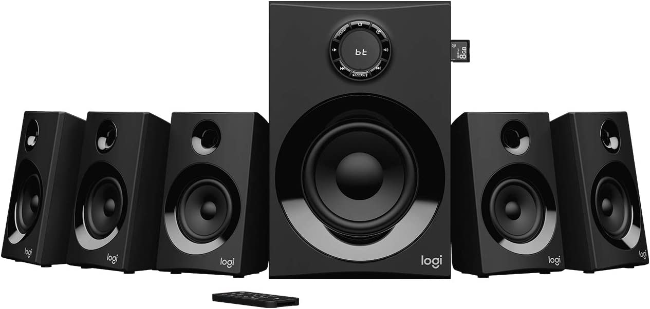 Logitech Z607 5.1 Surround Sound with Bluetooth - BLACK - BT - PLUGC - EU