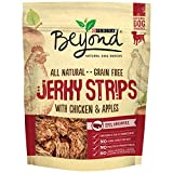 chicken apple dog treats - Purina Beyond Natural Dog Snack, Jerky Strips with Chicken & Apple, 9-Ounce Pouch, Pack of 1