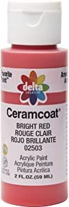 Delta Creative Ceramcoat Acrylic Paint in Assorted Colors (2 oz), 2503, Bright Red