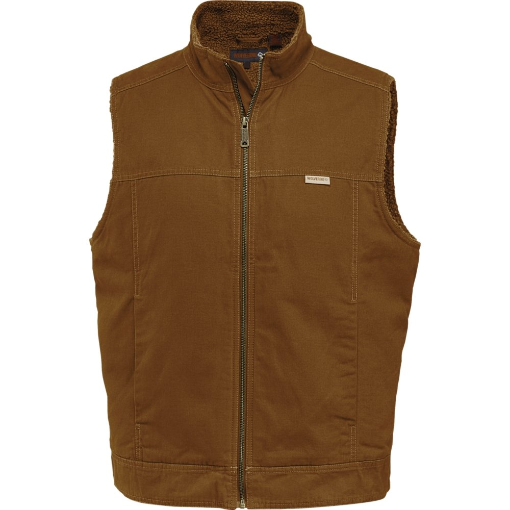 Wolverine Men's Porter Sherpa Lined Vest, Chestnut, Large by Wolverine
