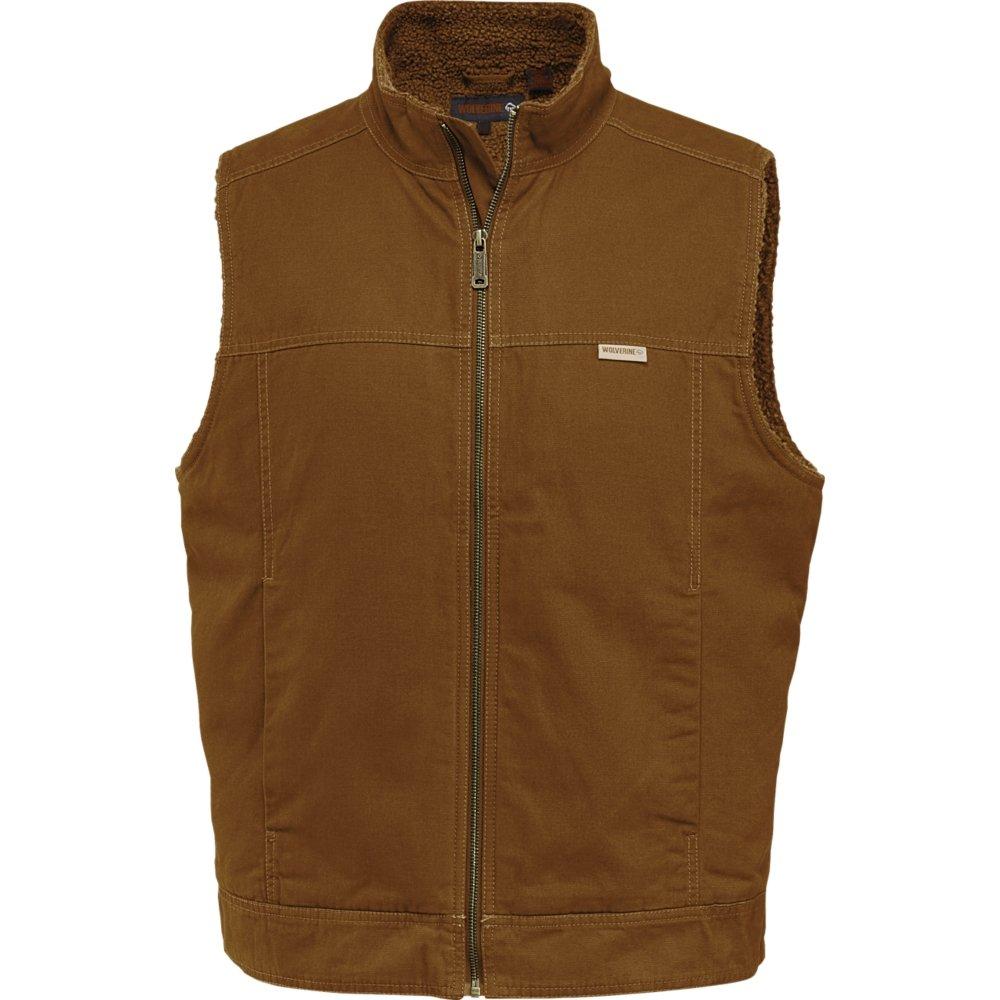 Wolverine Men's Porter Sherpa Lined Vest, Chestnut, X-Large