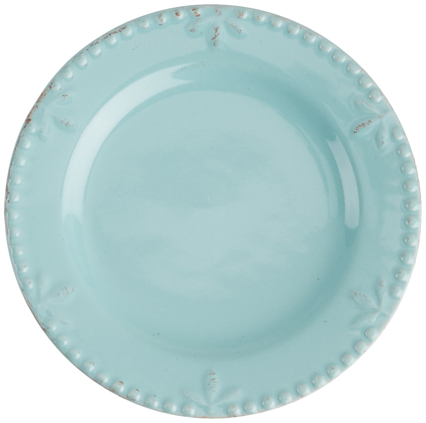Signature Housewares Sorrento Collection 6'' Round Appetizer Plate, Aqua