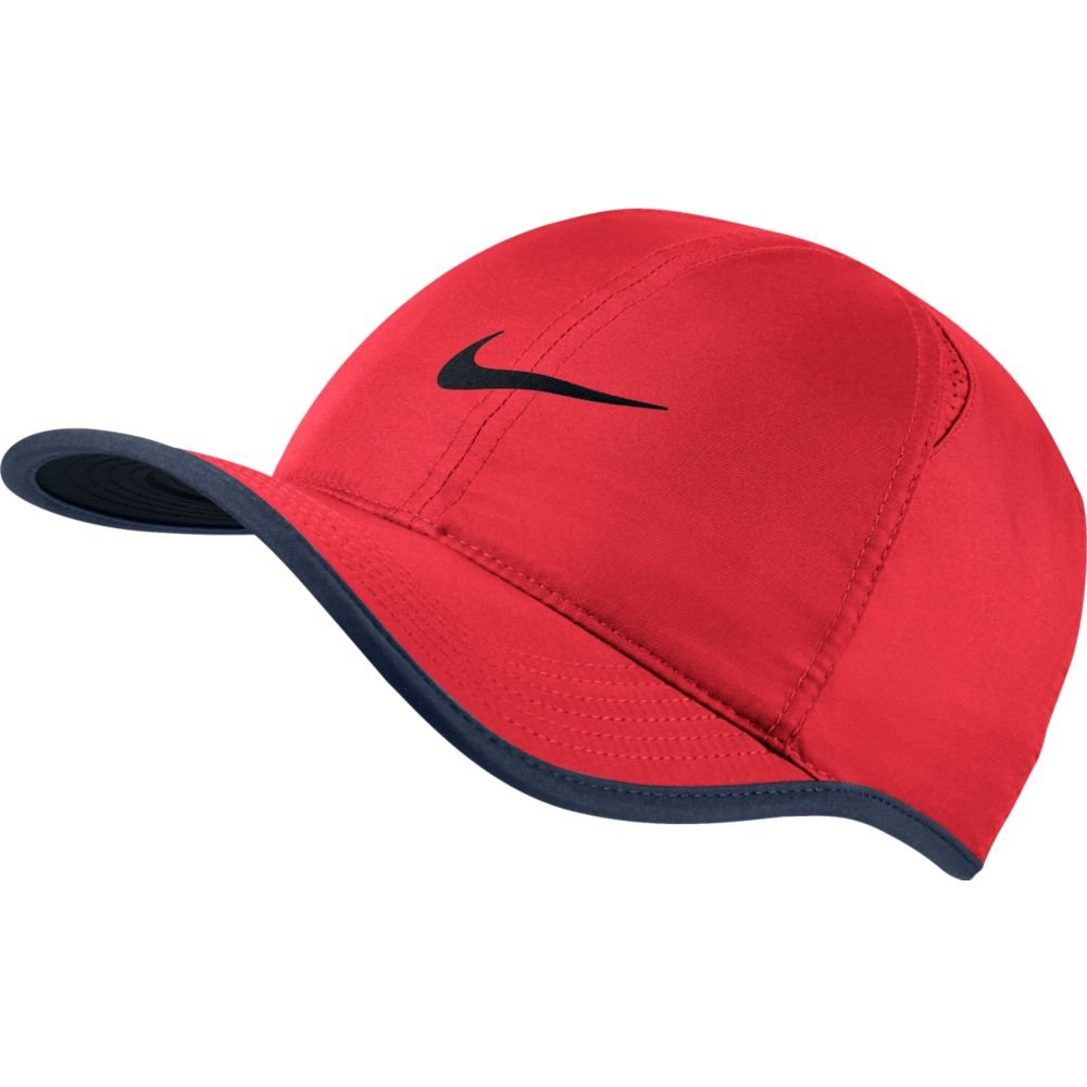 Nike Feather Light Tennis Hat (Action Red/Midnight Navy/Black, One Size)