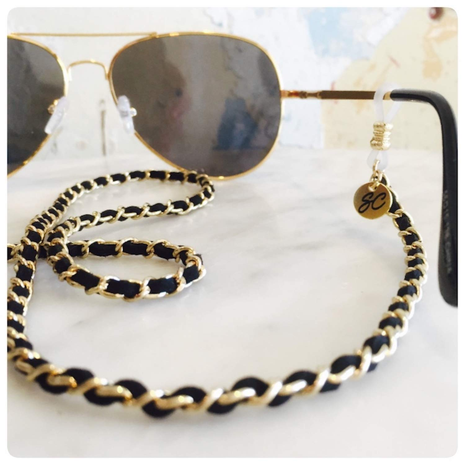 16de9b46f7 Amazon.com  Chanel inspired Glasses chain