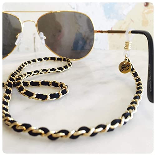 661afe0703d6 Amazon.com: Chanel inspired Glasses chain | Sunglass Strap black ...