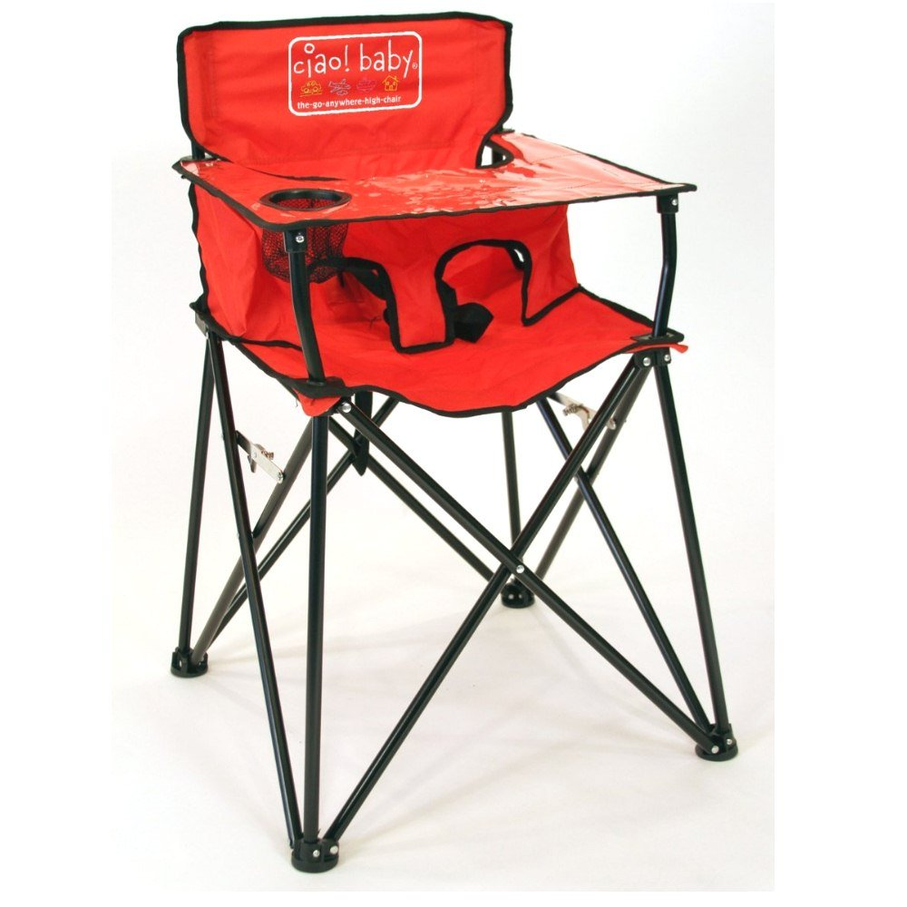 Ciao! Baby Portable Travel Highchair, Red