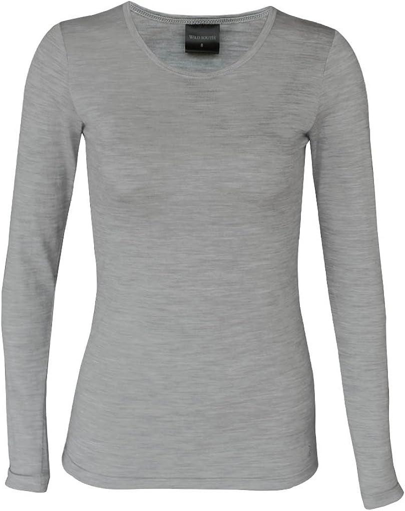Long Sleeve Crew Neck 100/% Merino Wool 150 Lightweight Anti Odor Sustainable Fabric Wild South Womens Merino T Shirt