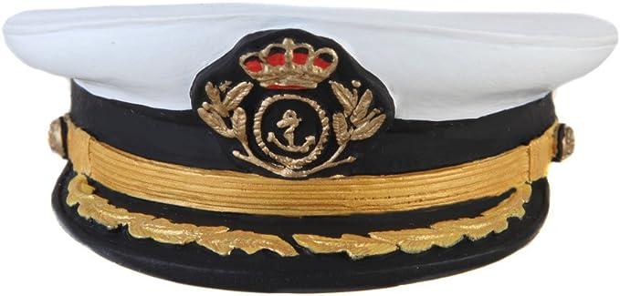 Gorra de plato de los oficiales superiores de la Armada Española ...