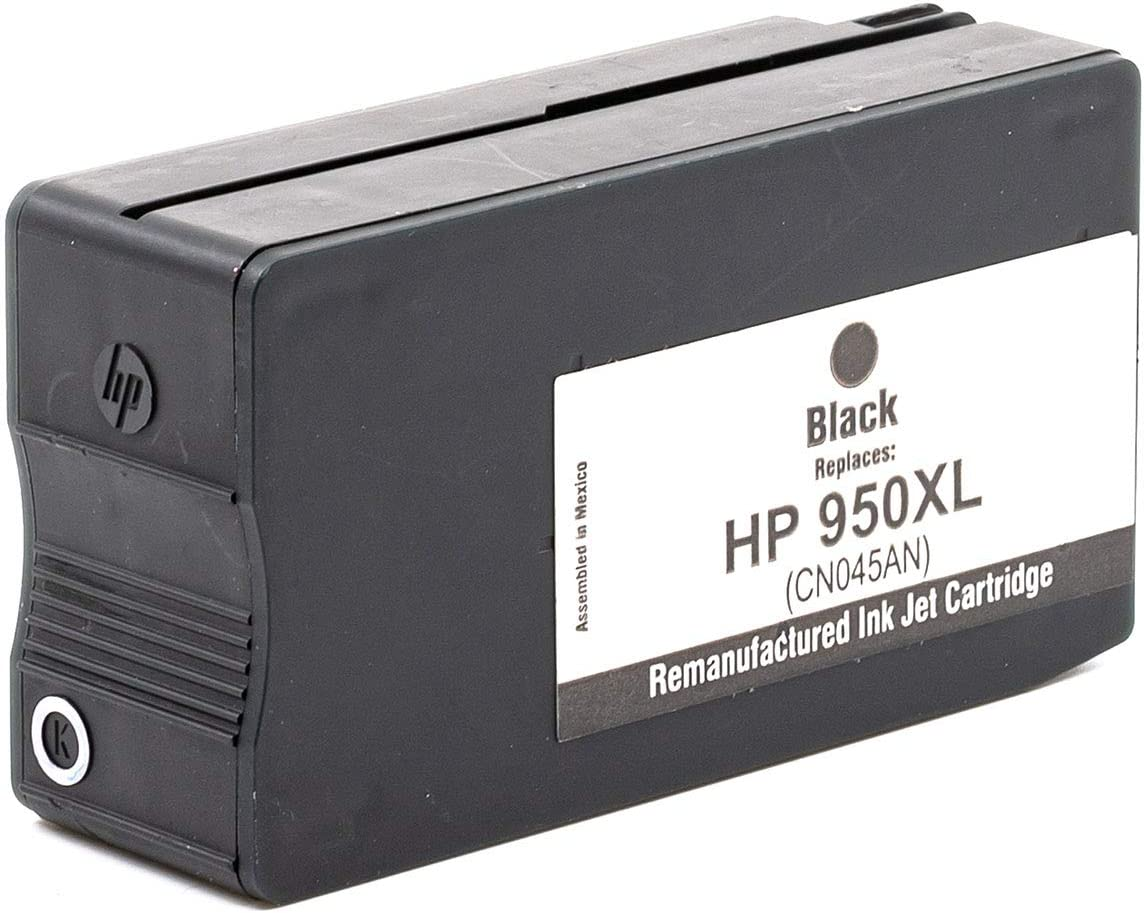 Black InkSurf Remanufactured Inkjet Replacement for HP CN045AN with New Chip Works with: OfficeJet Pro 8100 CN049AN 8600 Series 950XL Black