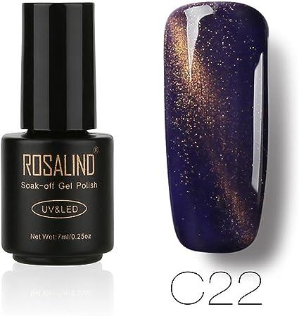 ❀ Grosses Soldes. Esmalte de uñas Cat Eye Gel, higlles esmalte de uñas negro UV Gel Set de barniz SEMI permanente UV LED: Amazon.es: Belleza