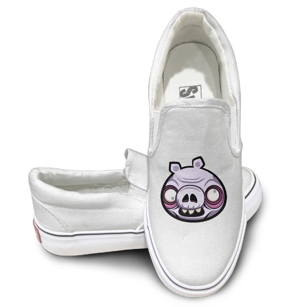 VenC Men's Shoes Sports Walking Sneaker Zombie Pig Slippers White