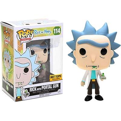 Funko POP! Rick with Portal Gun #114: Toys & Games
