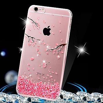 coque silicone iphone 6 fleur rose