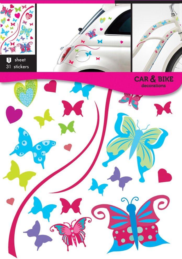 Pegatinas de mariposas para coche y bicicleta