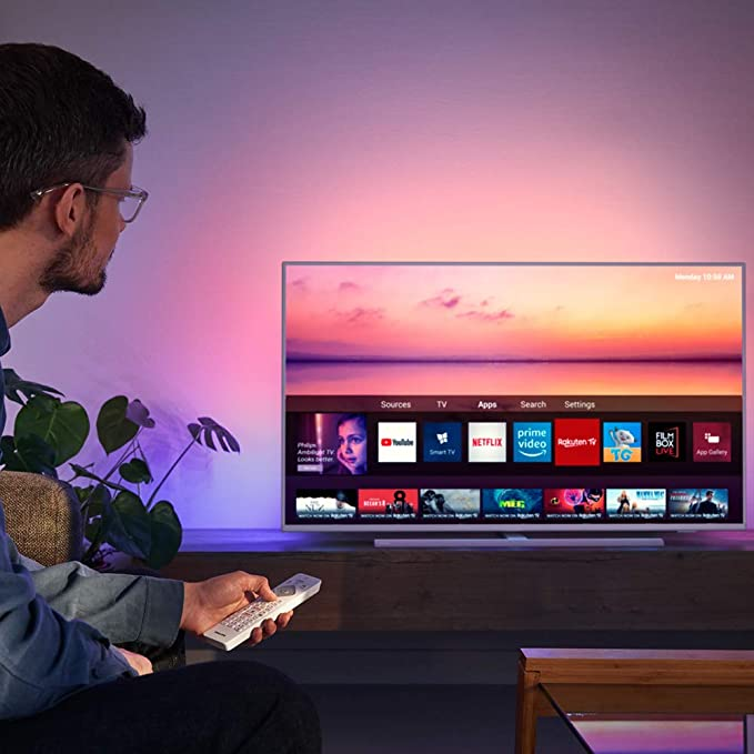 Philips 55PUS6814, Smart TV Alexa Ultra HD (Ambilight 3 Lados, HDR ...