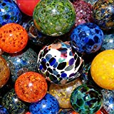 Blue Magic Mix Pond Floats - 3 inches, 4 inches, 5 inches & 6 inches - Blown Glass - Made in Seattle - Dehanna Jones