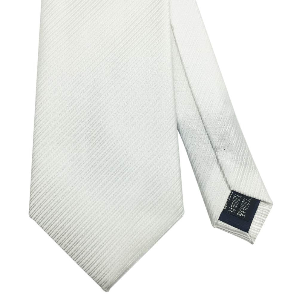Various Colors 3 inches Mens Necktie with Stripe Textured 8 cm White