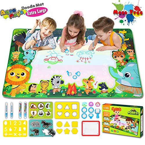 Aqua Drawing Mat Extra Large Water Doodle Mat for Toddlers Aqua Magic Doodle Mat for Boys Girls Kids...