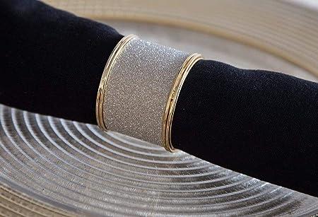 Oro Brillo anillos de servilleta cena de Navidad eventos bodas ...