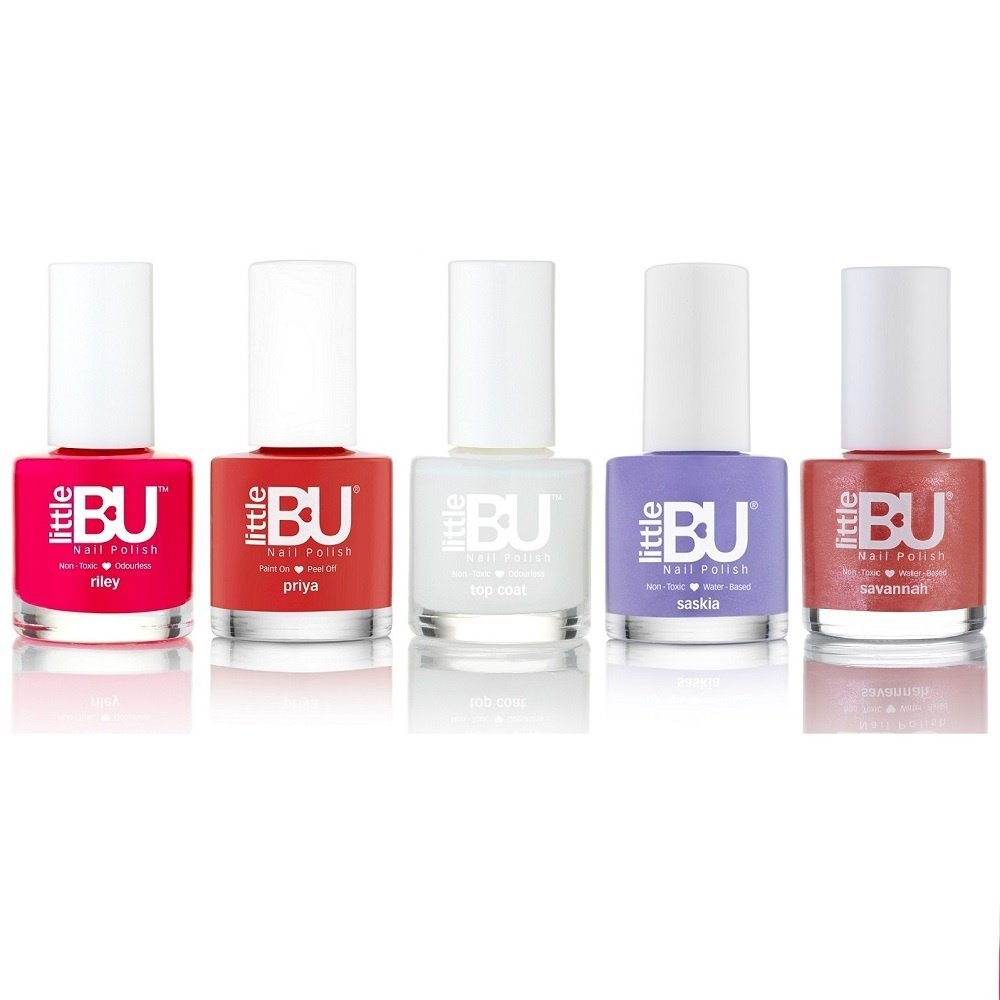 Little BU® Water Based Non-Toxic Colour Nail Polish for Kids Teens ...