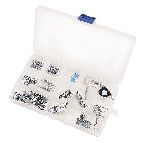 CLE DE TOUS - Kit de 32 piezas / 15 piezas multifuncional prensatelas para maquina de