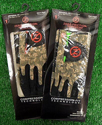 2 Zero Friction Men's Golf Gloves, One Size, Right Hand, Combat Camo