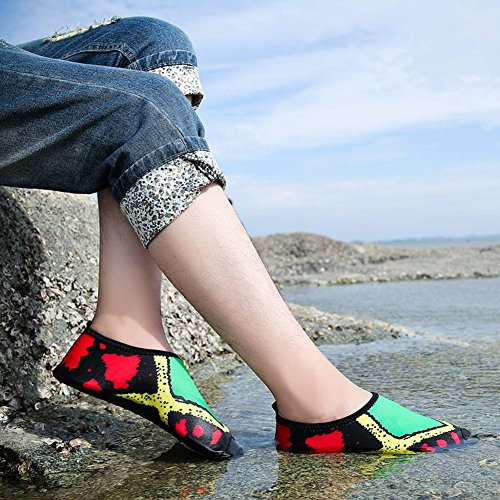 Shoes Dry Women's Men's Flexible Beach Breathable Green Skin Aqua COSDN Quick Lightweight Multifunctional PO0dnwq