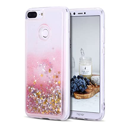 Caselover Funda Huawei Honor 9 Lite, 3D Bling Silicona TPU Arena Movediza Carcasa para Honor 9 Lite Glitter Líquido Brillar Lentejuelas Suave ...