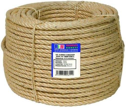 Ronets - Cuerda cableada sisal 4c - 6mm 200m.: Amazon.es ...