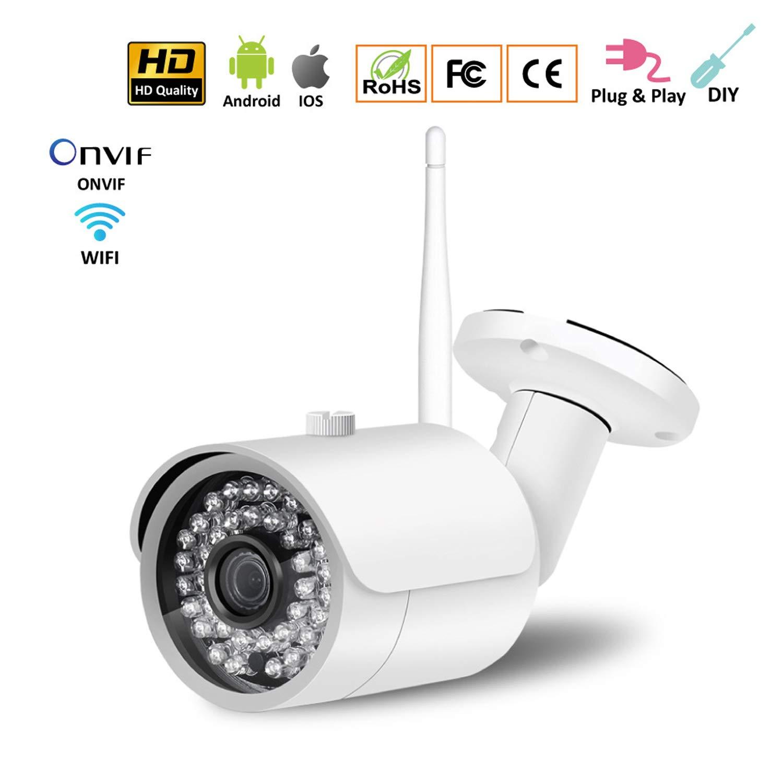 Love Life Cámara de Seguridad inalámbrica para Exteriores, cámara de Seguridad de Bala al Aire Libre con vigilancia de Seguridad en el hogar 1080P y visión ...