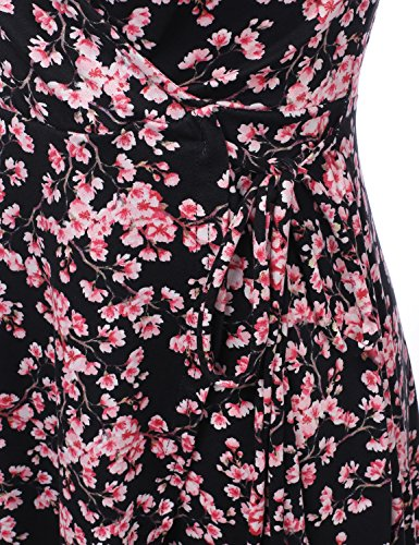Line Women's CLOVERY amp; Dress blackpink Solid Awdsd0772 Dress Loose Fit A Print Floral qRwCBxwd