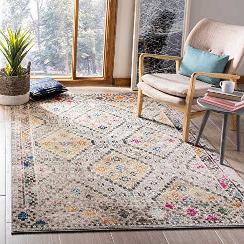 Safavieh Madison Collection MAD418F Grey and Yellow Area 3 x 5 Rug
