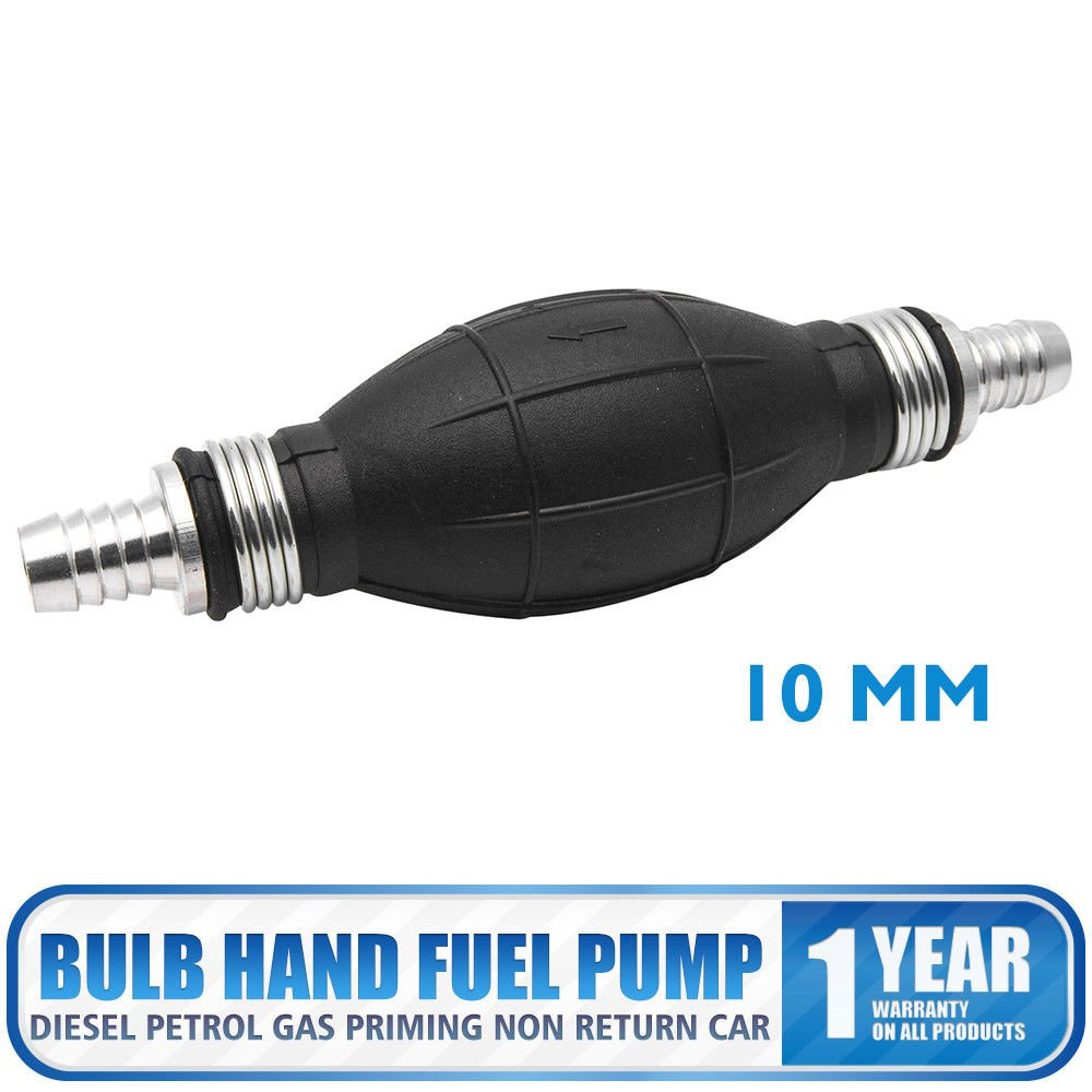 MASO 12mm Fuel Primer Bulb Hand Pump Diesel Petrol Gas Priming Non Return Car Black