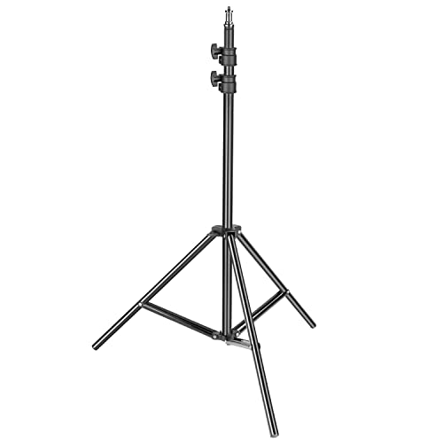 Neewer Heavy Duty Light Stand, 3-6.5 feet/92-200 centimeters Adjustable Photographic Stand Sturdy Tripod for Reflectors, Softboxes, Lights, Umbrellas with 17.5 pounds/ 8 kilograms Load Capacity