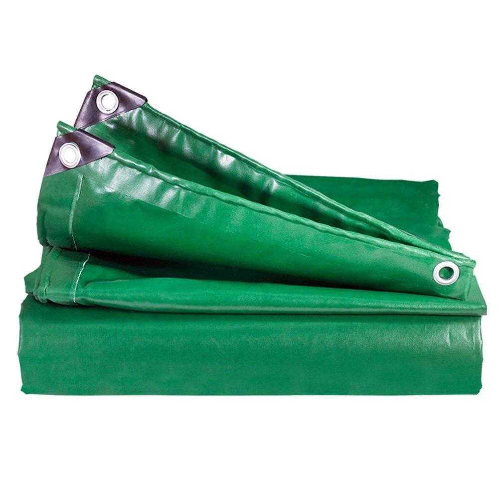 Waterproof Cloth Home Außenzelt Plane, regendicht, wasserdicht, Logistik, LKW, Gebäude, staubdicht, Winddicht, Schuppen, reißfest, langlebig, grün (Farbe   Grün, Größe   4x5M)