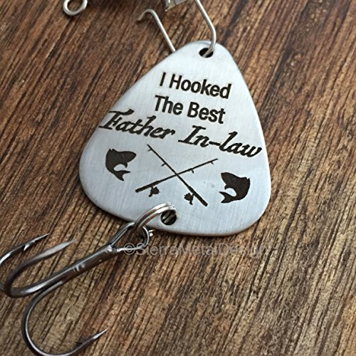 I Hooked The Best Father In Law Gift I Hooked The Best Father In Law Fishing Lure Gift Wedding Fishing Lure Father In Law Gift Mens Gift Dad Gift Parent To Be