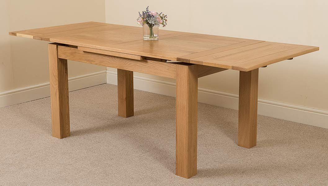 Magnificent Extendable Oak Dining Table 6 8 Seater Dining Table Home Interior And Landscaping Ologienasavecom