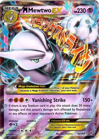 Pokemon - Mega-Mewtwo-EX (63/162) - XY BREAKthrough - Holo ...