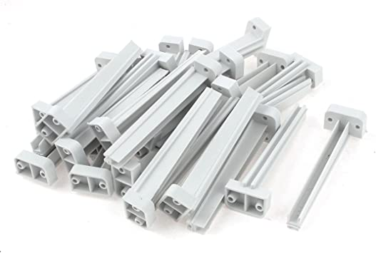 model: L4575IXII-1577MQ Aexit Barra de soporte de carril de gu/ía de ranura de tarjeta de placa de circuito PCB de montaje vertical de 25 piezas