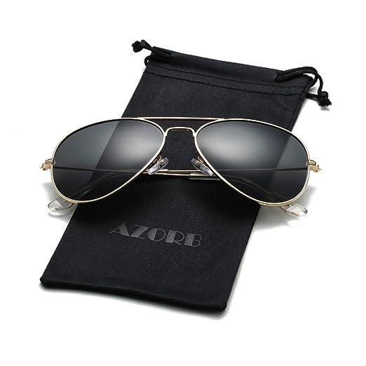 8937d28123 Amazon.com  AZORB Classic Polarized Aviator Sunglasses for Men Women ...