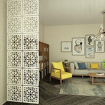 Kernorv Raumteiler Paravent Weiß DIY Paravants Raumtrenner  Umweltfreundlichem PVC Holz Plastik Trennwand Home Dekoration Für