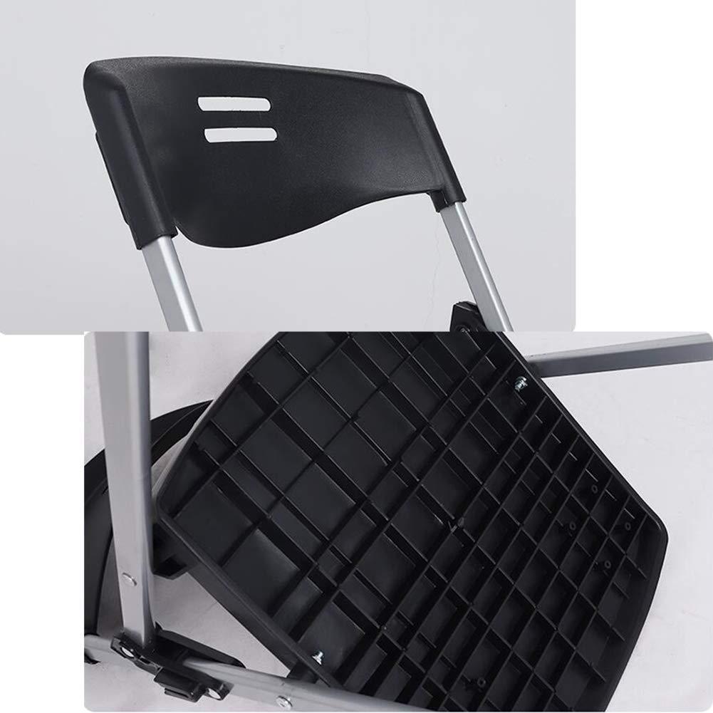 JIEER-C Fritidsstolar metallram vikbara stolar kontor hem trädgård dator skrivbord 3 färger hållbar stark Svart