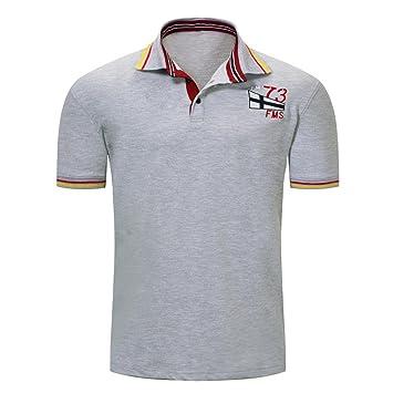 LuckyGirls Camisa Camisetas Originales Hombre Manga Cortos Verano Rayas Color de Hechizo Deportivas Blusa Moda Estampado