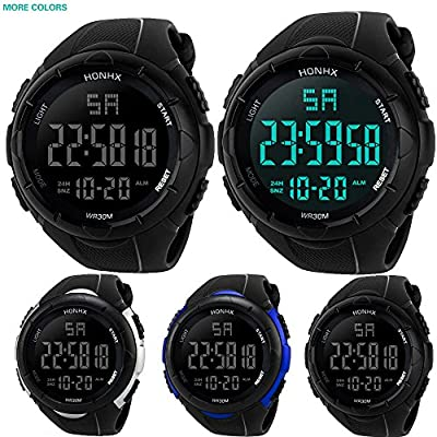 Outsta Luxury Men Sport Watches,Analog Digital Military Army Sport LED Waterproof Wrist Watch Fashion Business Watches Gift