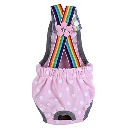 GLOGLOW Tirante Punteado para Mujer Pañales de Perro Algodón Pañal Lavable Perro Sanitario Menstrual Pantalones Ropa