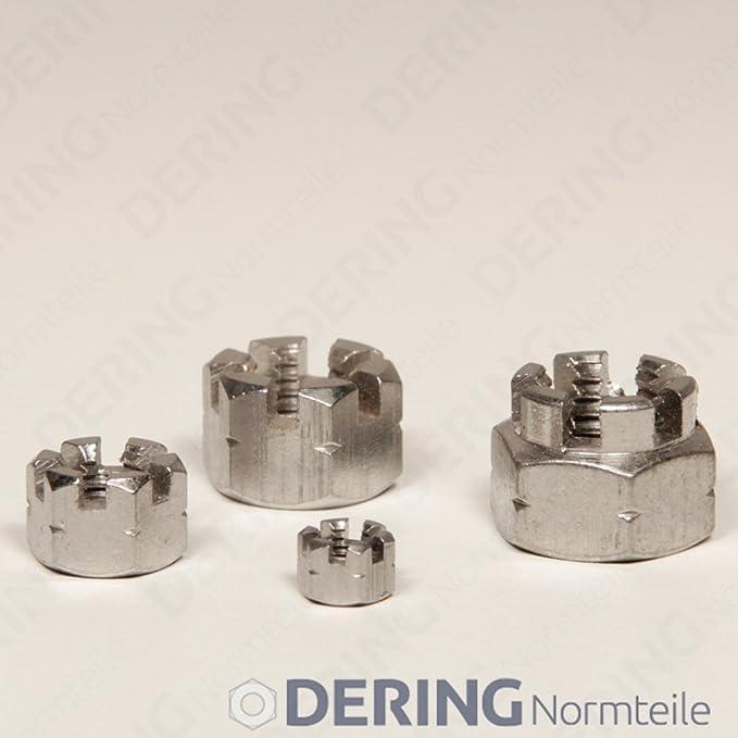DERING Sechskantmuttern M3 DIN 934 Edelstahl A2 | Sechskant-Mutter Standard rostfrei 2 St/ück