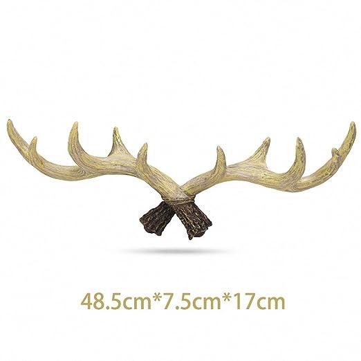 Sunyiny Soporte de pared de cabeza de ciervo colgador con ...