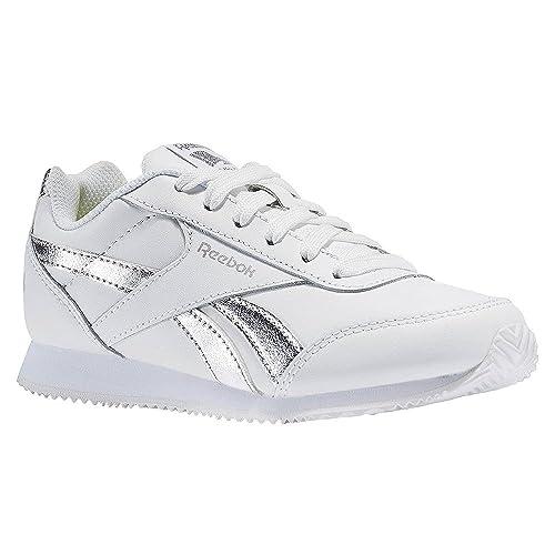 Reebok Bs8012, Zapatillas de Deporte para Niñas, Blanco (White/Silver Met)