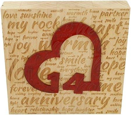 Anniversario Di Matrimonio 3 Anni.Blocco Di Legno Di Faggio Per 14 Anniversario Di Matrimonio Con